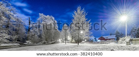 Winter wonderland Landscape Background  - stock photo