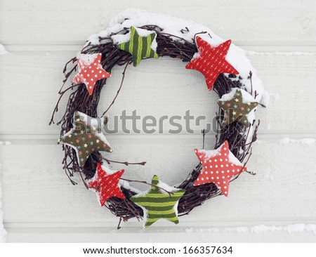 Winter wreath - stock photo