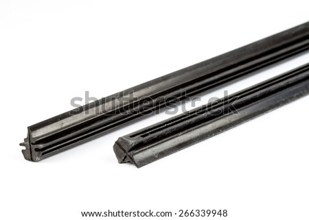 wiper blade isolate on a white background - stock photo
