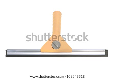 wiper for cleaning window isolated on white - stock photo