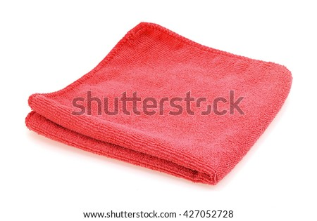 Wipes red Isolated on white background