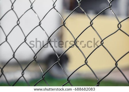 Wire Fence Cyclone Fencing Repeating Patterns Stock Photo & Image ...