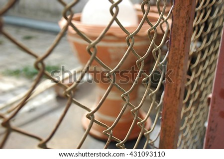 Wire fence detail