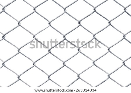 wire fence isolated on white
