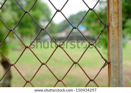 Wire fence pattern