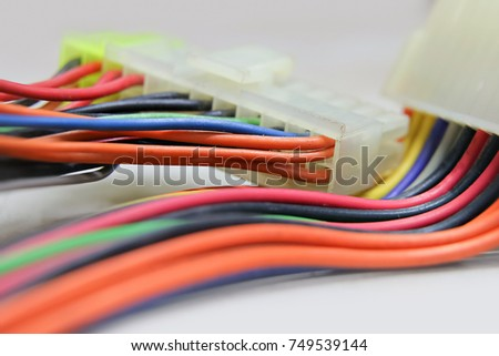 stock photo wire harness connector 749539144 wiring harness for electronics stock images, royalty free images Wire Harness Assembly at virtualis.co