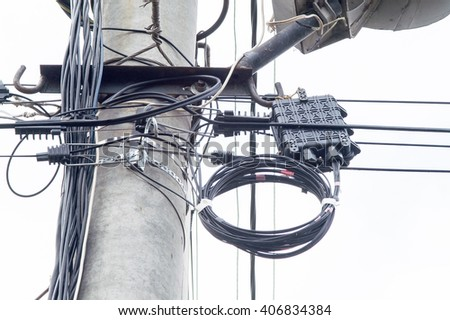 wire on a high-voltage electrical wire line