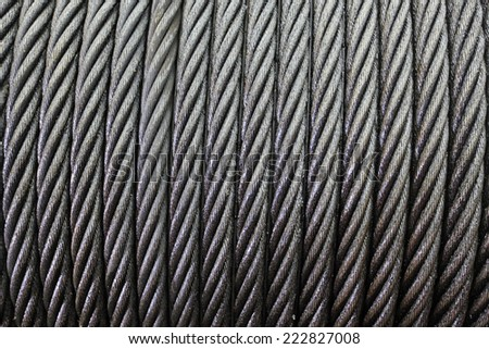 Wire Rope Texture Heavy Duty Steel Stock Photo 33506407