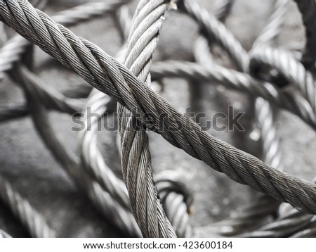 Wire rope on the floor