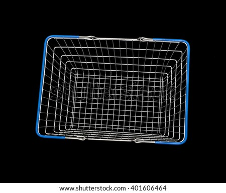 wire shopping basket - stock photo