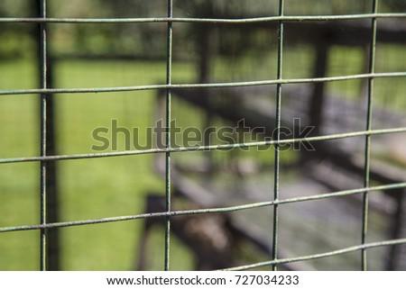 Wire Square Fence Chicken Coop Farm Stock Photo 727034233 ...