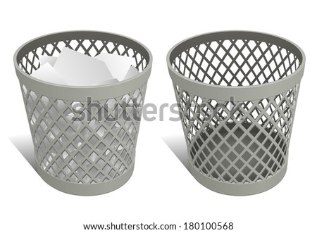 Wire trash can / waste bin / recycle bin