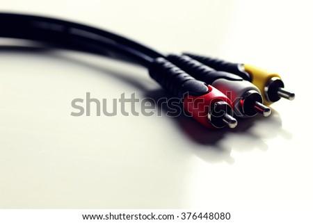 wire tulip cable macro - stock photo