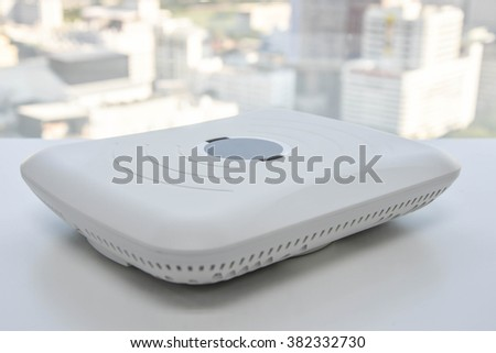 Wireless access point device - stock photo
