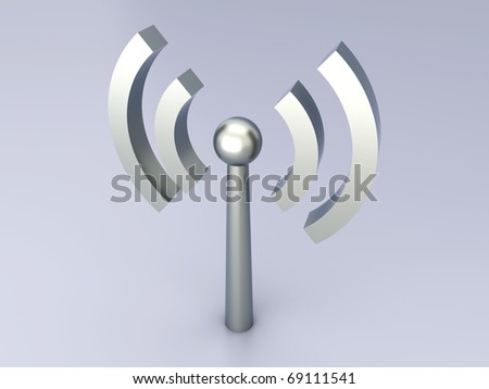 Wireless Antenna - stock photo
