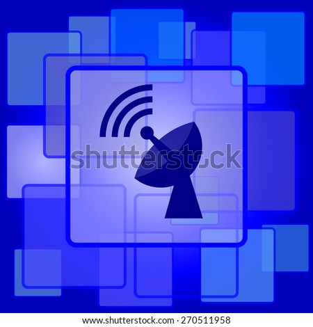 Wireless antenna icon. Internet button on abstract background.  - stock photo