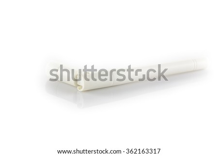 Wireless antenna isolated on white background