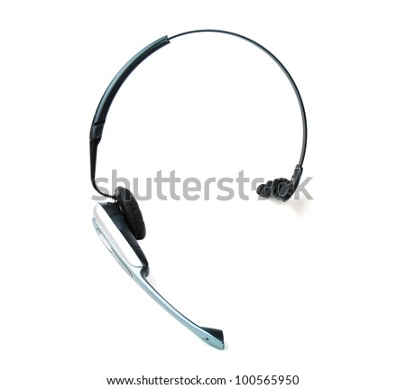 Wireless audio headset - stock photo