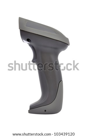 Wireless bar code reader  isolated on white background - stock photo
