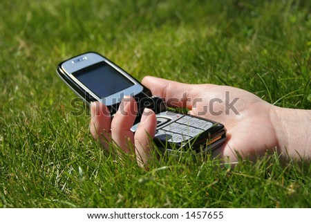 Wireless communication - stock photo
