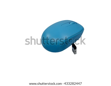 Wireless computer mouse  on wite background