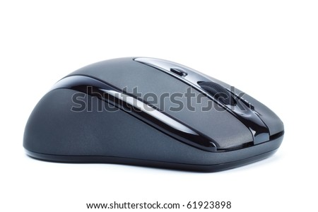 wireless computer mouse profile isolated on white