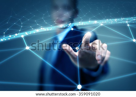 Wireless connection futuristic concept - stock photo