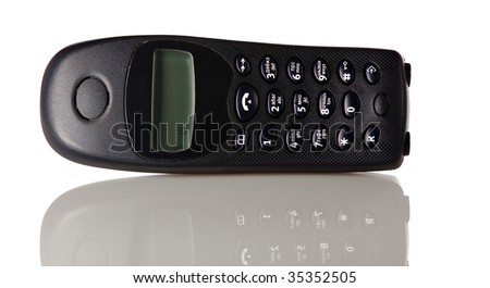 wireless dect phone isolated on white
