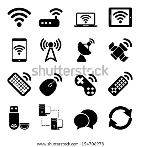 Wireless Devices Icons Set - stock photo