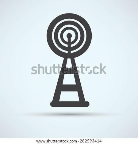 Wireless Icon - stock photo