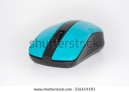 Wireless Mouse Computer mouse on a white background