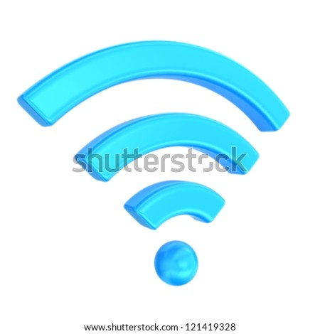 Wireless network symbol - stock photo