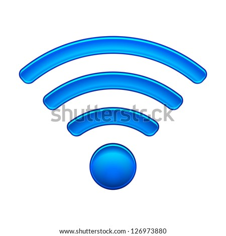 Wireless Network Symbol wifi icon illustration isolated on white