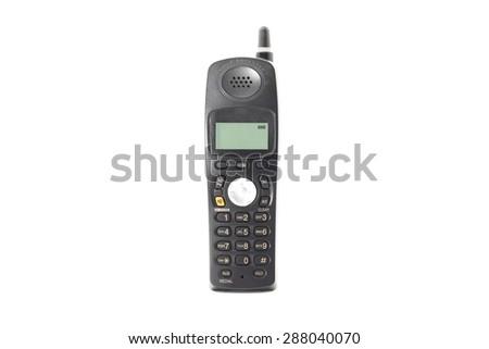 wireless phone isolated on white - stock photo