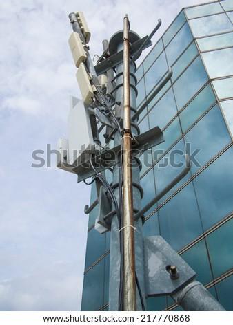 Wireless station - stock photo