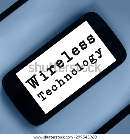Wireless Technology word on smartphone page.  - stock photo