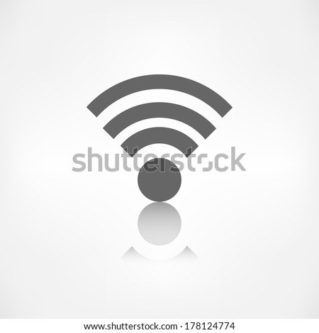 Wireless web icon - stock photo