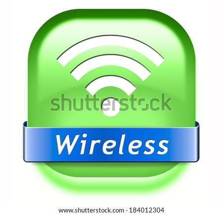 wireless wifi access area and free internet access icon or button