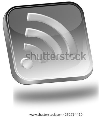wireless WiFi button - stock photo