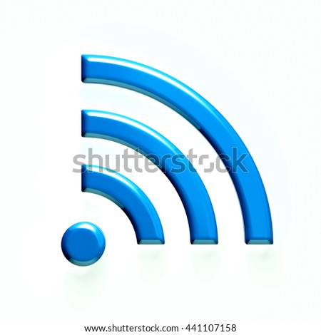 Wireless wifi icon. 3D rendering illustration - stock photo