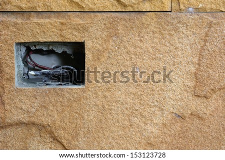 Wiring in the old walls - stock photo