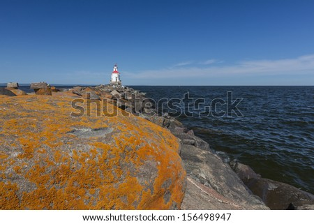 Wisconsin Point Lighthouse On Lake Superior