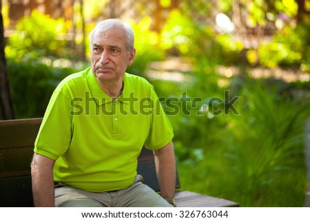 Wise grandfather - stock photo