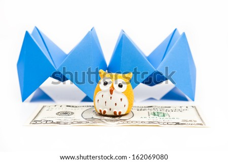 wise saving for pension concept - stock photo