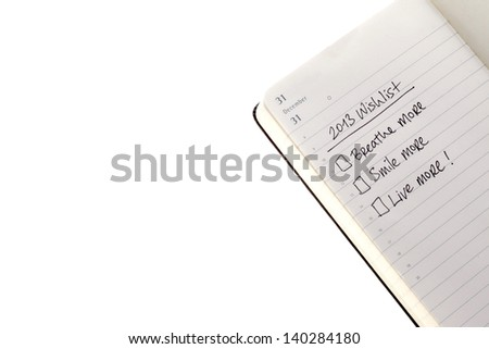 Wish list for 2013 - stock photo