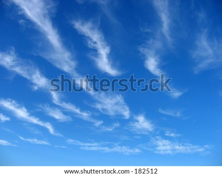 Wispy cloud formation.