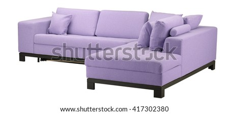 Wisteria sofa isolated on white. Include clipping path