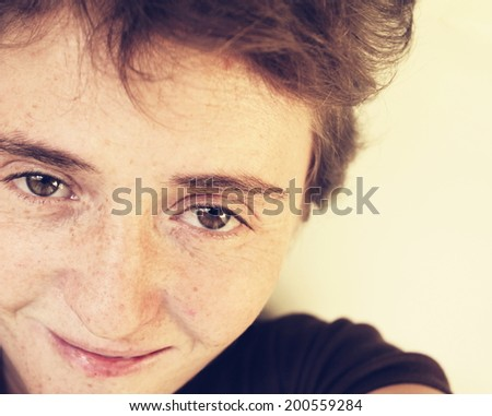 Wistful girl - stock photo