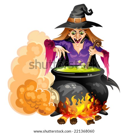 Witch preparing a potion - stock photo
