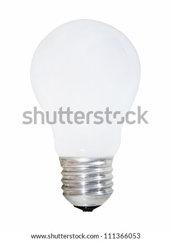 Wite bulb isolated on white.